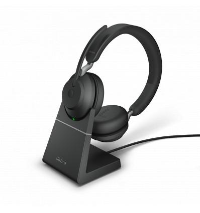 Jabra Evolve2 65, Link380a UC Stereo Stand Black